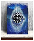 CBYLDDD Decoración del hogar Rolex Business Watches Cartel de Lienzo Pintura de Agua Fuego de Pared Arte Modular Marco de Imagen para Sala de Estar 16x24in Sin Marco