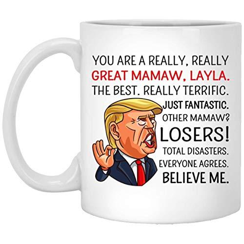 Regalo del día de la madre de Trump - Regalo del día de la madre - Taza de Mamaw Trump - Día de la madre de Trump - Regalo divertido de Trump - Regalos de Mamaw - Taza de Mamaw - Best Mamaw - Regalo d
