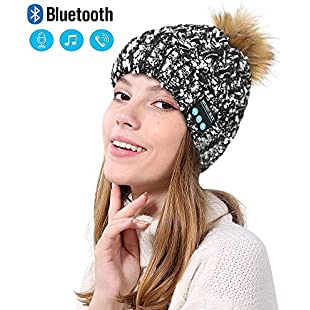 Bluetooth Beanie Music Hat Wireless Windproof and Snowproof Headset Music headgear Cap with Wireless Stereo Headphone Headset Earphone Speaker for Winter Outdoor Sport Running, Skiing, Skating, Curling, Sleigh
