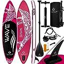 KESSER® Aufblasbare SUP Board Set Stand Up Paddle Board | 320x76x15cm 10.6' | Premium Surfboard Wassersport | 6 Zoll Dick | Komplettes Zubehör | 130kg, Pink