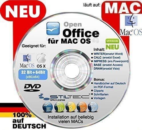 Open OFFICE MAC PREMIUM Home and Business NEU Schreibprogramm Textverarbeitung Tabellenkalkulation Präsentation Software [auf DVD D] MAC