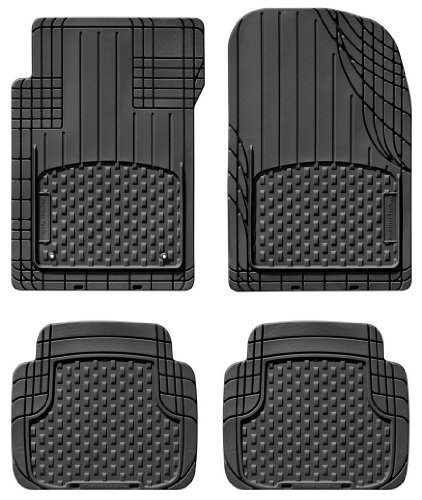 WeatherTech Universal Trim to Fit All Weather Floor Mats for Car, SUV, Automotive Vehicle - 4-Piece Set Black