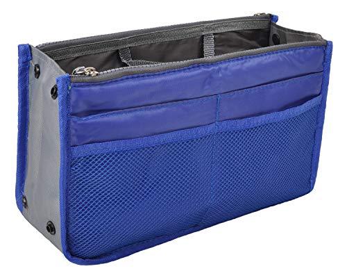Vercord Purse Organizer Insert for Handbags Bag Organizers Inside Tote Pocketbook Women Nurse Nylon 13 Pockets Royal Blue Medium