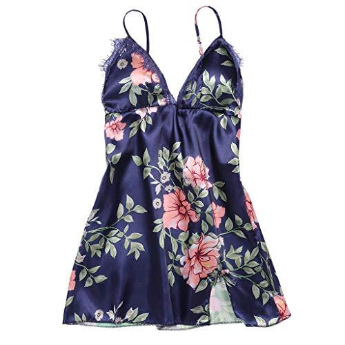 SIOPEW NachtwäSche Damen Sexy Set Mode Sexy Pastoraler Stil Flower Lace Teens Girls Sleepwear Dessous Versuchung UnterwäSche Jumpsuit Mit Thong