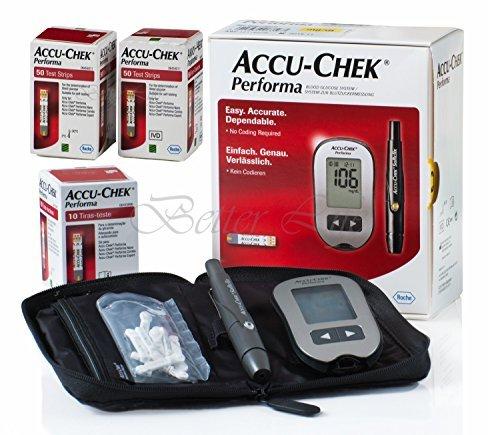 Accu Chek Performa Glucometer Kit with 110 Test Strips by Accu Chek