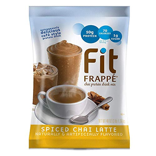 Big Train Fit Frappe Spiced Chai Latte Protein Drink Mix 3 lb. Bag