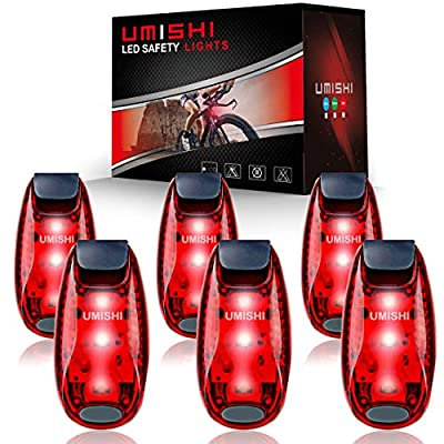 UMISHI 6 Pack LED Safety Light, Clip On Strobe Running Lights for Runners, Walking, Bicycle, Dog Collar, Stroller, Boat, Best Night High Visibility Accessories for Your Reflective Gear
