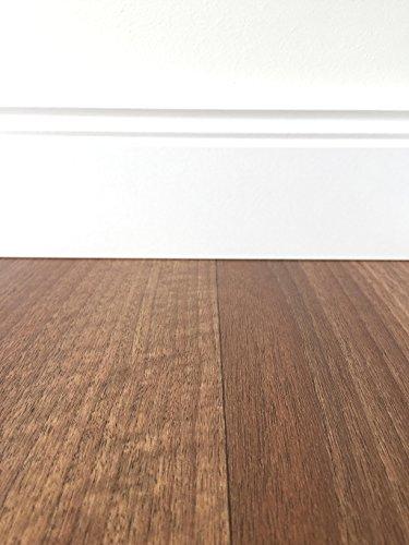 PVC-Bodenbelag Holzoptik Braun | Muster | Vinylboden versch. Längen & Breiten | Fußbodenheizung geeignet | PVC Planken strapazierfähig & pflegeleicht | Fußboden-Belag für Gewerbe und Wohnbereich