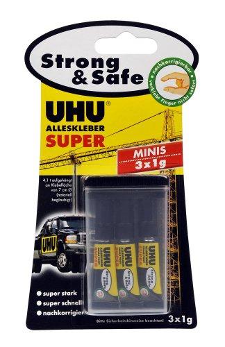 UHU 44305 Alleskleber Minis (3 x 1 g)