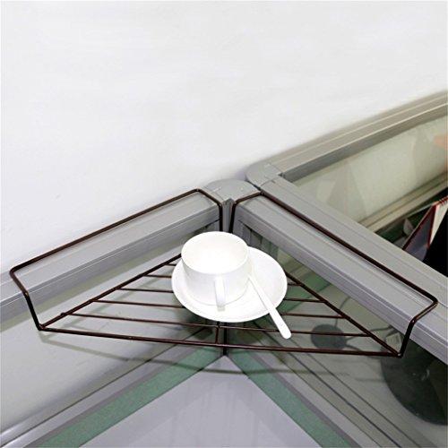 QFF Trépied de bureau en style européen Étagère en fer Cadre en coin de fer Cadre à angle droit Plantes en pot Étagère à fleurs de bureau ( Couleur : Chocolat Couleur )