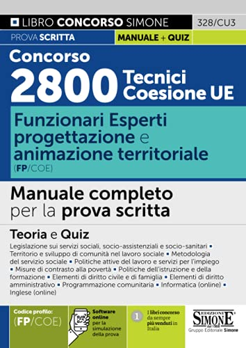 Concorso 2800 Tecnici Coesione UE - Funzionari Esperti Progettazione e animazione territoriale (FP/COE)