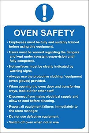 Oven Veiligheid Keuken Horeca Veiligheid Teken Stickers, Waarschuwing Stickers Labels, Zelfklevende Vinyl,Veiligheid Let Let op Teken Stickers, 20X15CM