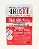 BleedStop™ First Aid Powder for Blood Clotting, Trauma Kit, Blood Thinner Patients, Camping Safety, and Survival Equipment for Moderate to Severe Bleeding Wounds or Nosebleeds - 1 Pouch