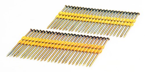 Freeman FR.131-3B 21 Degree .131' x 3' Smooth Shank Full Round Head Plastic Collated Brite Finish Framing Nails (2000 count) for General Construction