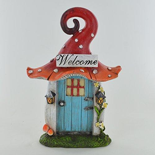 Prezents.com Fairy Garden UK Sculpture en forme de champignon magique pour lutin 21 cm