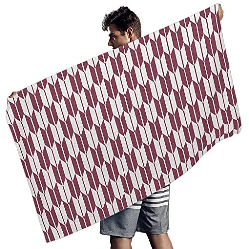 Ballbollbll Toallas de playa de patrón geométrico japonés para partido de música de impresión tropical manta de playa para hombres mujeres blanco 150x75 cm