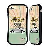 head case designs licenza ufficiale ford motor company lato auto vintage fiesta xr2 cover ibrida compatibile con apple iphone 7 / iphone 8 / iphone se 2020