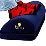 BRIO Ergonomic Foot Rest Under Desk Adjustable Height - Comfy Yet Firm Foot Rest Cushion - Desk Foot Rest to Relieve Back, Hip, Knee, Plantar Fasciitis, Sciatic Pain, Foot Stool for Under Desk at Work
