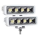 Best Led Flounder Lights - EXZEIT Waterproof Led Boat Lights, 2 pc 72W Review