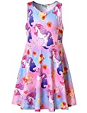 Flower Unicorn Dresses for Girls 5t Sleeveless Summer Sun Clothes Swing Dress