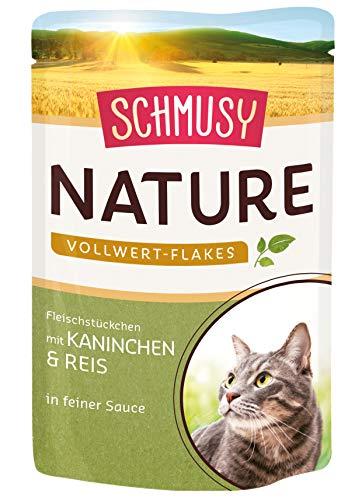 Schmusy Nature Vollwert-Flakes Kaninchen & Reis, 22er Pack (22 x 100 g)