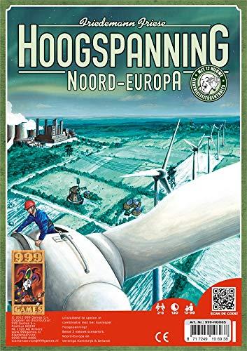 999 Games 999-Hoo05 Hoogspanning: Noord-Europa Bordspel Bordspel, Alle Kleuren