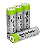 Amazon Basics AA High-Capacity Rechargeable Batteries, 4-Pack