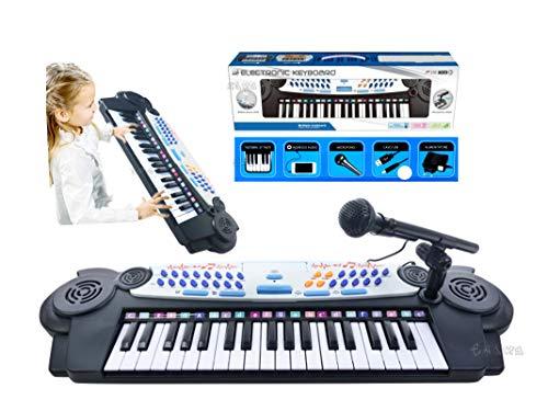 loco by crazy shoes Pianola Musicale Elettronica Bambini 37 Tasti Microfono Registrazione Karaoke