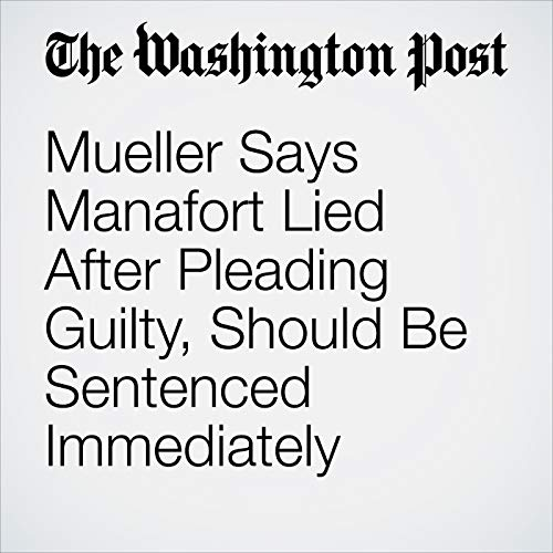 Mueller Says Manafort Lied After Pleading Guilty, Should Be Sentenced Immediately audiobook cover art