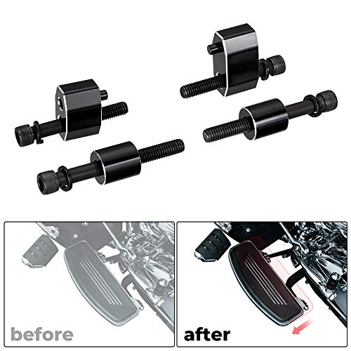 Street Glide Driver Floorboard Extension kit -1'' Compatible with 2009-2019 Touring Road King Electra Glide Road Glide Includes Bolts and Spacers.