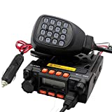QYT KT-8900 Mini Dual Band Car Radio, VHF/UHF 136-174/400-480MHz 25W/20W Mobile Transeiver, with Programming Cable, Black