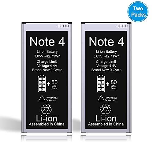 Vancely Akku für Samsung Galaxy Note 4 3300mAh(2PACK), Höhere Kapazität Lithium-Ionen-Akku Ersatz für Samsung Galaxy SM-N910F, SM-N910U, SM-N910C, SM-N910H, SM-N910A, 24 Monate Gewährleistung