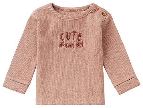 Noppies Baby-Unisex U Tee LS Istabong T-Shirt, Mahogany Melange-P629, 50