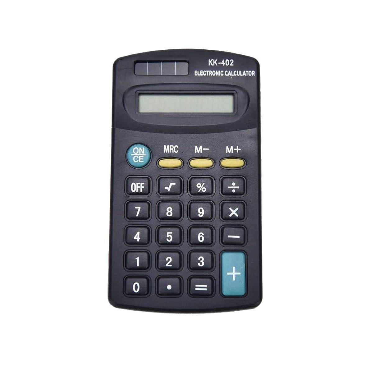 保持する嫌な負担オフィス作業のための汎用ブラック8桁ミニ電卓バッテリーではなくソーラーパワー