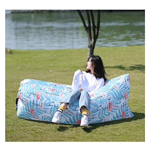 QDC Portable Lightweight Floating Chair - Best Air Lounger for Travelling, Camping, Stays Inflated Longer, Easy to Inflate, Air Sofa Portable Chair Bed Lightweight with Carry Bag (Color : C)