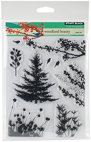 Penny Black Clear Stamp Set, 30-379,Woodland Beauty