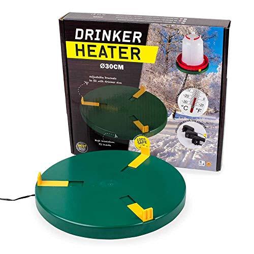Poultry Drinker Heater Base for Chicken Waterer Founts | Deicer Heated Base
