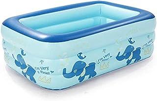Configuración de colocación Simple Centro de natación Salón Familiar Piscina Infantil Hinchable Rectangular Familiar en Diferentes tamaños Baño para bebés de Tres Pisos Ocean 130 * 95 * 55 con Bomba