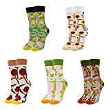 Womens Transparent Sheer Mesh Fishnet Lace Ultrathin See Through Novelty Ankle Crew Socks 5 Pairs,Flower Cat -  Benefeet Sox
