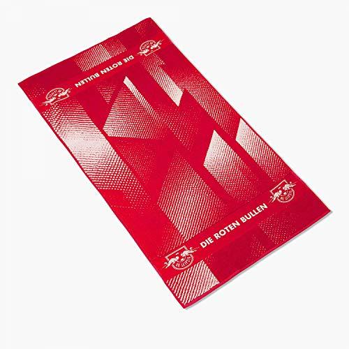RB Leipzig - Toalla de ducha (70 x 140 cm), diseño de las bolitas rojas y blancas
