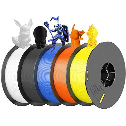 SIMAX3D 1,75 mm PLA-Filament 5 Multicolor für 3D-Drucker Extruder Stift Kunststoff Zubehör 5 kg Spulen Impresora 3D Filament 5 Stück