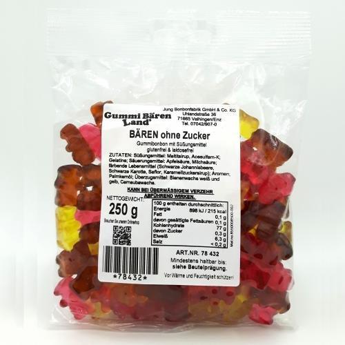 Maltit-Gummibärchen ohne Zuckerzusatz, 250g