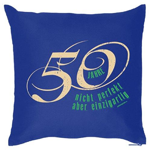 Goodman Design Coussin Bleu 50 Ans Pas Parfait mais Unique