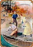 WOOOOL Bristol - Cañas de pescar de acero retro vintage para pared, letrero de pared para decoración del hogar, cafetería, bar, pub, 20 x 30 cm