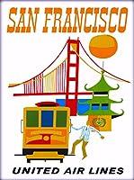 ERZAN大人の子供のおもちゃサンフランシスコユナイテッド航空カリフォルニア創造的なギフト300ピース ジグソーパズル