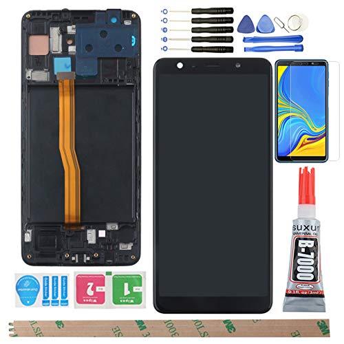 YHX-OU 6.0' para Samsung Galaxy A7 2018 A750F SM-A750F de reparación y sustitución LCD Display Touch Screen Digitizer+ con Herramientas Incluidas (Negro + Marco)