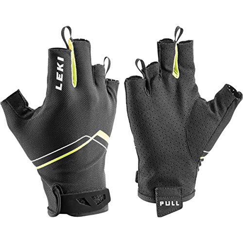 LEKI Multi Breeze Short Handschuhe, schwarz-gelb-Weiss, EU 10