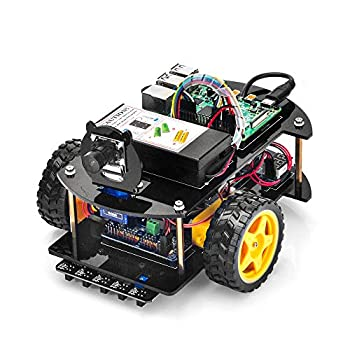 OSOYOO Robotic Car for Raspberry Pi 4 3B+ 3B | STEM Educational DIY Smart Kit for Science Fair | Teens and Adults | Ultrasonic Obstacle WiFi IOT Control Web CSI Camera  RPi Board Not Included