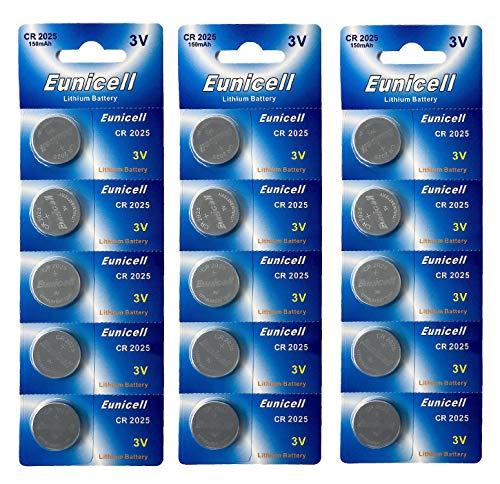 15 x CR2025 3V Lithium Knopfzelle 150 mAh (3 Blistercards a 5 Batterien) EINWEG Markenware PUTINCELL (FBA)