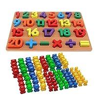 yotijar 数字を学び、カラフルなクマのプレイセット教育玩具を数える子供たち